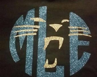 Carolina Panther monogram