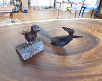 Two IronWood Bird Figures Hand carved