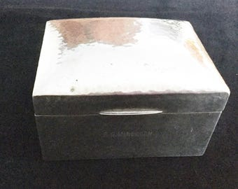 Liberty & Co. Arts and Crafts  Archibald Knox Tudric. Solkets polished pewter box 01021