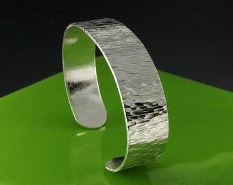 Hammered Sterling Silver Slim Cuff Bracelet