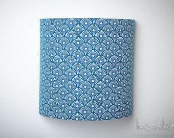 """Applique murale """"Blowballs blue"""" 20cm, japonisant, géométrique, abat jour, abatjour"""