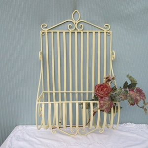 Vintage,antique,wrought Iron,wall Hanging,indoor,outdoor Plant Holder,