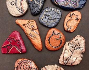 Hand Painted rocks Animals