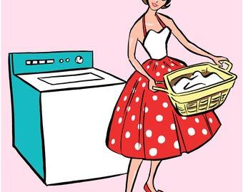 "PRINT: ""Laundry"" 11 x 14, laundry room decor, laundry sign, laundry room, house warming gift, laundry room sign, housewarming gift"