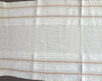 Handwoven cotton material - OOAK vintage