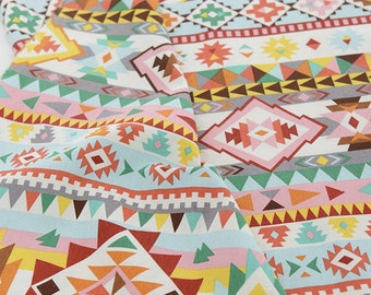 Superbe Indian Style Colorful Triangle Collection Cotton Linen Fabric Home Decor  Fabric Tablecloth Fabric Curtain Fabric Handmade