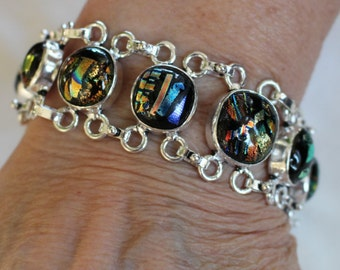 Dichroic Glass Bracelet-8 inches!