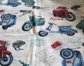 Coupon fabric upholstery scooter 68 x 50 cm