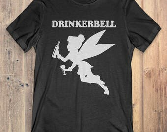 Funny Drinking Fairy T-Shirt Gift: Drinkerbell
