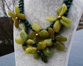 Free Shipping Gemstone Necklace Serpentine