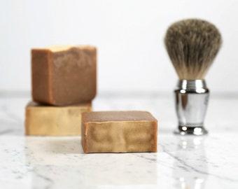 SANDALWOOD PATCHOULI SHAVE Soap, Shaving Soap, Shave Bar, Man Soap, Manly Soap, Soap for Men, Travel, Guest