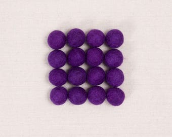 Felt Balls // Purple // Felt Pom, Felt Flower Supplies, Purple Pom, Felt Beads, Mobile Crafts, Felt Embellishments, Pom Garland, Kids Craft