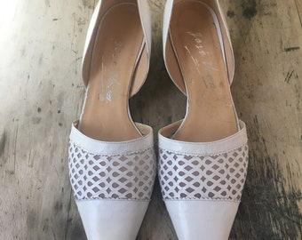White Leather Jose Vera Size 9 Shoes