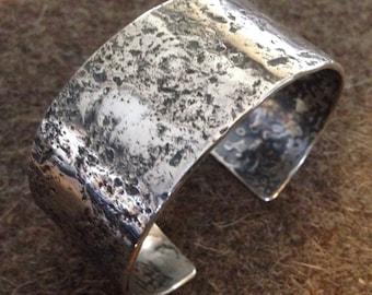 Organic Sterling Silver Cuff Bracelet