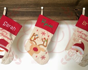 Personalized Christmas stockings , monogrammed christmas stocking , custom christmas stocking , personalized stocking
