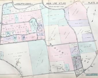 Merion Square Gladwyne 1937 Main Line Property Atlas Map Of Lower Merion Township Montgomery County Pennsylvania Bryn Mawr Farm