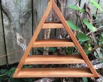 Quality Cedar Triangle Shelf, Christmas, Crystal Display Shelf, Not DIY Triangle Shelf, Pyramid Shelf, Triangle Shelves, Pyramid Shelves