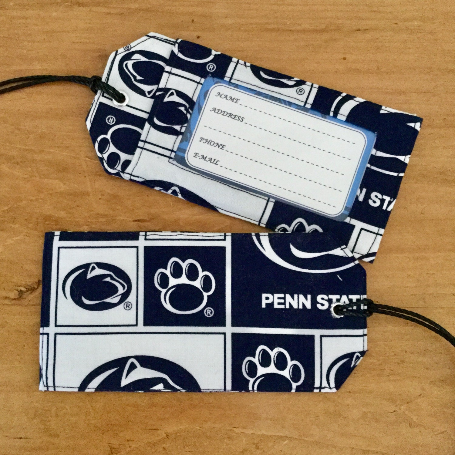 Luggage tag. Penn State luggage tag. Gift card holder.