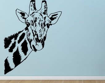 27inch Giraffe head neck----Removable Graphic Art wall decals stickers home decor