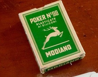 Box Of Vintage Playing Cards Italian Modiano Poker