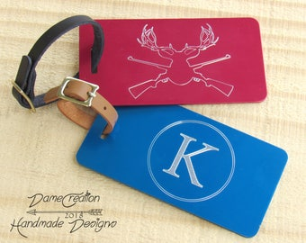 Luggage Tags, Personalized Luggage Tags, Custom Luggage Tags, Vacation Tag, Custom Tag, Monogram Luggage Tag, Wedding Gift