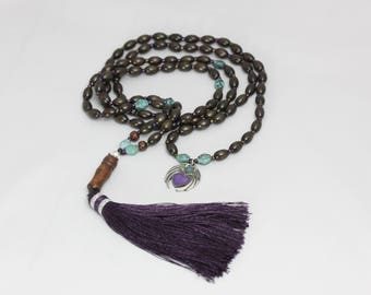 Mala with Winged Heart charm