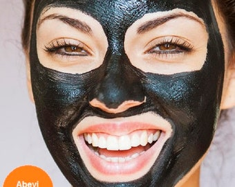 Organic Deep Cleansing, Purifying, Detoxifies Skin - Blackhead and Acne Removal Black Facial Mask -  30g