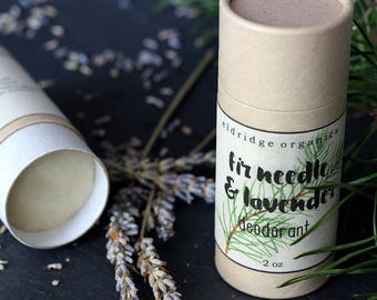 Fir Needle & Lavender Deodorant - Organic Deodorant - All Natural Deodorant