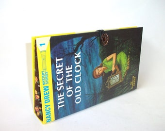 Nancy Drew Book ClutchThe Secret of the Old Clock Handbag Vintage Book Purse