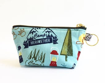 Charlie Change Purse, Change Purse, Zippered Pouch, Zippered Handbag, Fabric Accessories, Accessories,  Cosmetic Bag, Camp