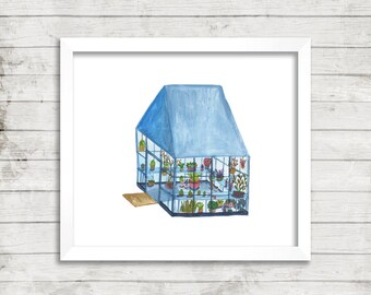Greenhouse 1 Illustration, Art Print