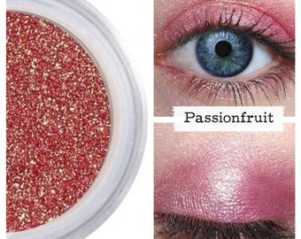 Crimson Eyeshadow, Mineral Eye Color, Natural Beauty, Pure Cosmetics, Shimmer Eyes, Vegan Cruelty Free, Professional Quality, PASSIONFRUIT