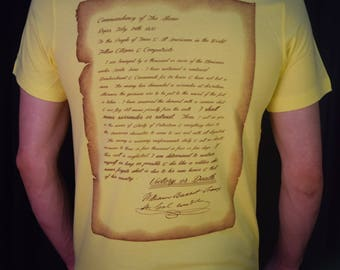 Victory or Death Tee! William B. Travis' letter to the United States
