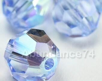 6 pcs Swarovski Elements - Swarovski Crystal Beads 5000 10mm Round Ball Beads - Light Sapphire AB