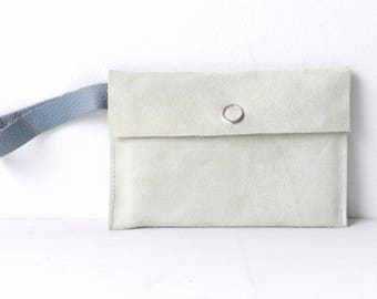 Small Suede Bag| Suede Pouch| Suede Make-Up Bag| Suede Wrist Bag| Minimalist Bag| Mini Bag Suede