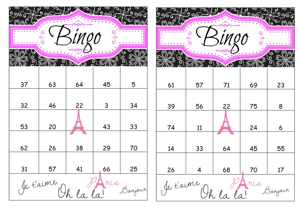 40 Printable Birthday Bingo Cards Prefilled with Numbers