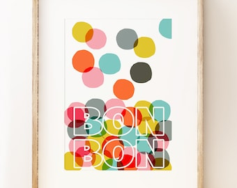 Bon Bon - graphic wall art print