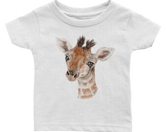 Baby Giraffe Zoo Baby Infant Tee