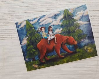The Hunt ACEO print 2.5x3.5