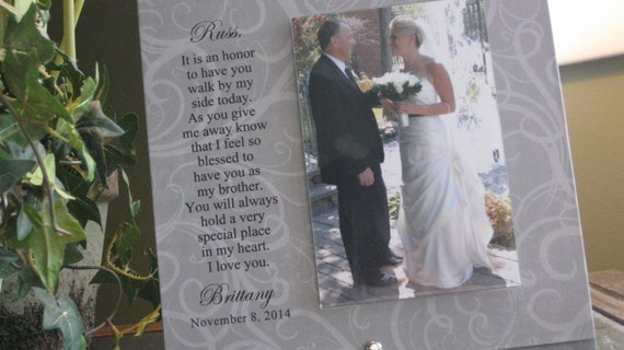 BROTHER Wedding Gift Brother wedding frame 4x6 photo Walk