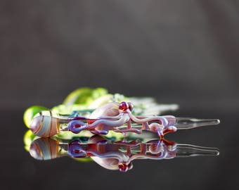 Octopus Glass Dabber / Oil Dabber / Glass Wand / Dab Tool / Concentrates Dabber / Dabber Nail /  You Choose the Color / Made to Order