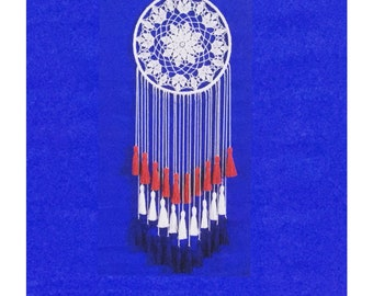 Patriotic Dreamcatcher Red White Blue Dream Catcher 4th of July Party Decoration American Flag Patriotic decor Memorial Day Americana decor