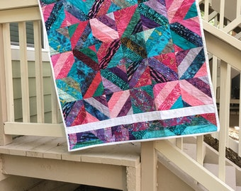 39 w x 50 L - cute, colorful quilt or wall hanging.