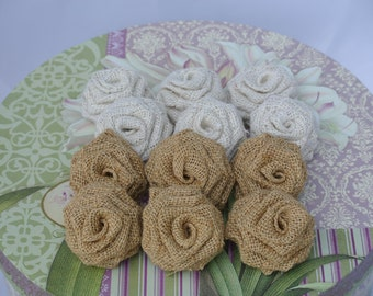 Natural Burlap Flowers,Natural burlap roses,burlap flowers, natural burlap, Oyster Burlap Flowers - Rustic Outdoor Vintage wedding decor