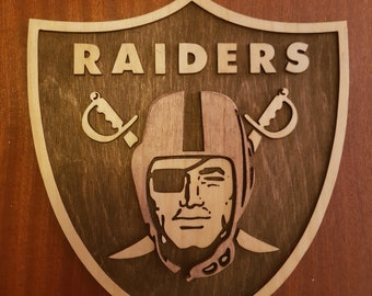 Raiders 3D Wood Plaque Sign