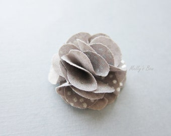 Men's Lapel Flower - Lapel Pin - Buttonhole - Flower Brooch - Gray Metallic Pin Dot - Tuxedo Corsage