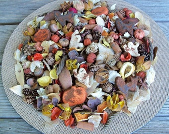 Old Fashioned Country Halloween Potpourri, Rustic, Pumpkin, Bat, Ghost, Saltdough, Room Scent, Seasonal, Botanicals, Refresher Oil Included