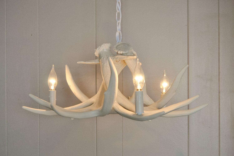 White antler chandelier faux antler chandelier w3c antler zoom aloadofball Choice Image