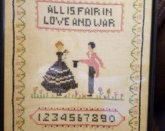 Folk Art Needlework Sampler