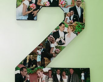 2nd Year Anniversary Photo Gift, Photo Collage, Photomontage for Anniversary Gift